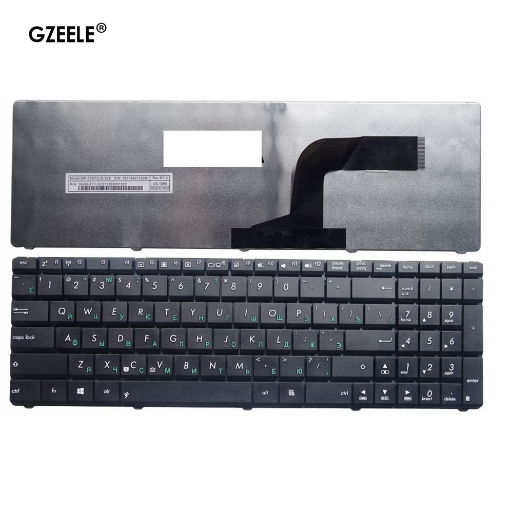 GZEELE New FOR ASUS N70SV N71V X54 X54Hr X54Hy X54L X54C X54X N61V N61D N61DA N61W N61J N61Jv RU Russian Laptop Keyboard Black