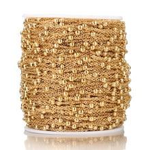 Semitree tornozeleira de aço inoxidável, 2 metros, colar de contas, componente diy, pulseira, jóias, acessórios, tornozeleira de artesanato