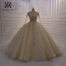 Robe de Soiree courte คอยาวแขนยาว Lace Appliqued ชุดบอลชุดแต่งงานชุด