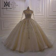 Robe de soiree courte alta pescoço manga longa renda appliqued vestido de baile vestido de casamento