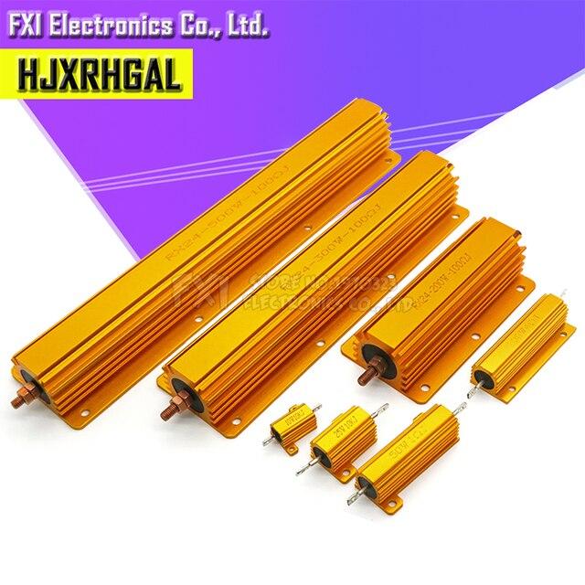 50W 100W Aluminum Power Metal Shell Case Wirewound Resistor 0.01R ~ 100K 1 6 8 10 20 200 500 1K 10K ohm resistance RX24 Igmopnrq 5