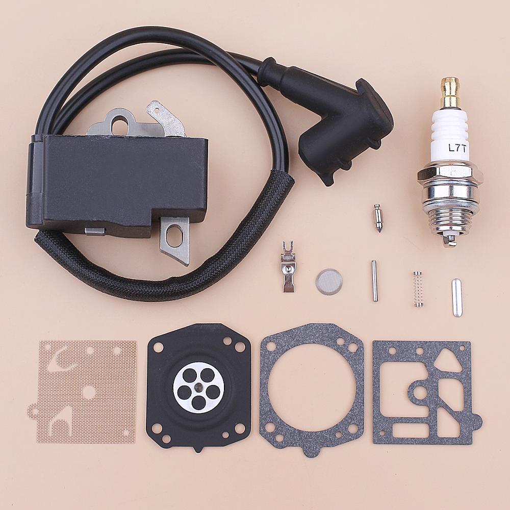 Ignition Coil Spark Plug For Stihl MS441 MS 441 Carburetor Repair Diaphragm Kit Chainsaw 1138 400 1300