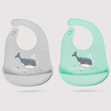 Fashionable Silicone Breastplate Baby Bib Waterproof Cartoon Infant Bandana Bibs Newborn Feeding Burp Cloth Drooling Scarf