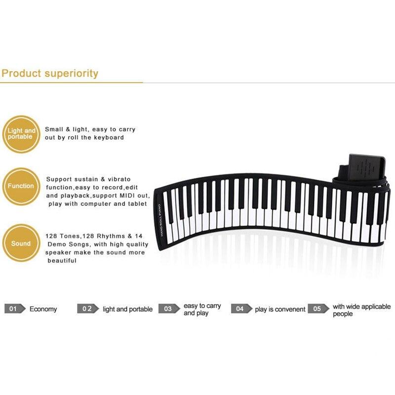 silicone do piano do rolo eletrônico das