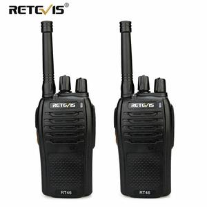 Image 1 - A Pair RETEVIS RT46 Walkie Talkie PMR Radio PMR446/FRS Portable Two Way Radio VOX Micro USB Charging  Li ion (or AA) Battery
