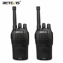 UNA Coppia RETEVIS RT46 Walkie Talkie PMR Radio PMR446/FRS Portatile A Due Vie Radio VOX Micro USB di Ricarica li ion (o AA) batteria