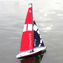 65cm 2.4G 4CH RC remote Boat DIY Pre-assembled Sailboat toy