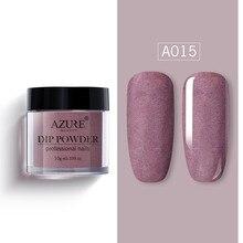 Azure Schoonheid Matte Effect Dompelen Poeder Nieuwste Shiny Glitter Nail Dip Poeder Matte Top Jas Gradiënt Kleur Nail Glitter Poeder
