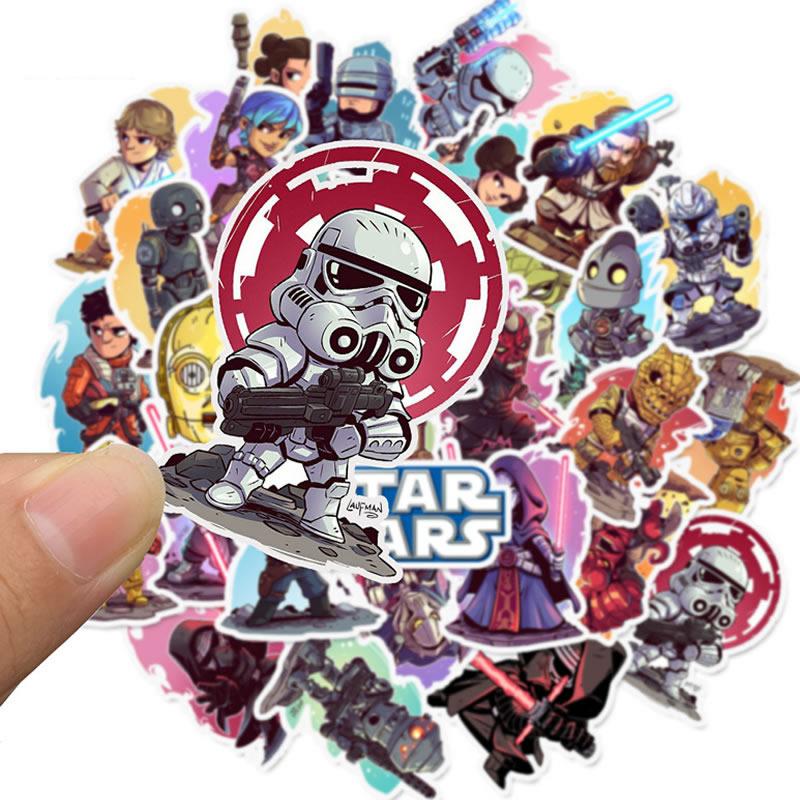 10 30 50pcs Waterproof PVC Cartoon Star Wars Stickers Skateboard Suitcase Guitar Children Funny Graffiti Sticker