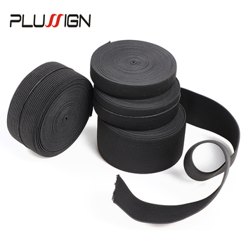 5Meters Width 1.5-4cm Black Elastic Band For Wigs Spandex Belt Trim Sewing/Ribbon Clothes Flex Sewing Material Elastic Wig Bands