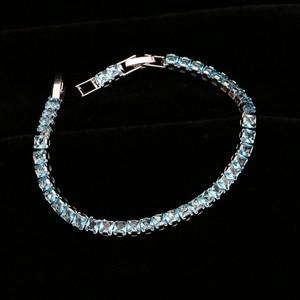 Image 4 - Himmel Blau Zirkonia Silber 925 Schmuck Sets Für Frauen Hochzeit Armband Anhänger Ohrringe Halskette Braut Schmuck Sets