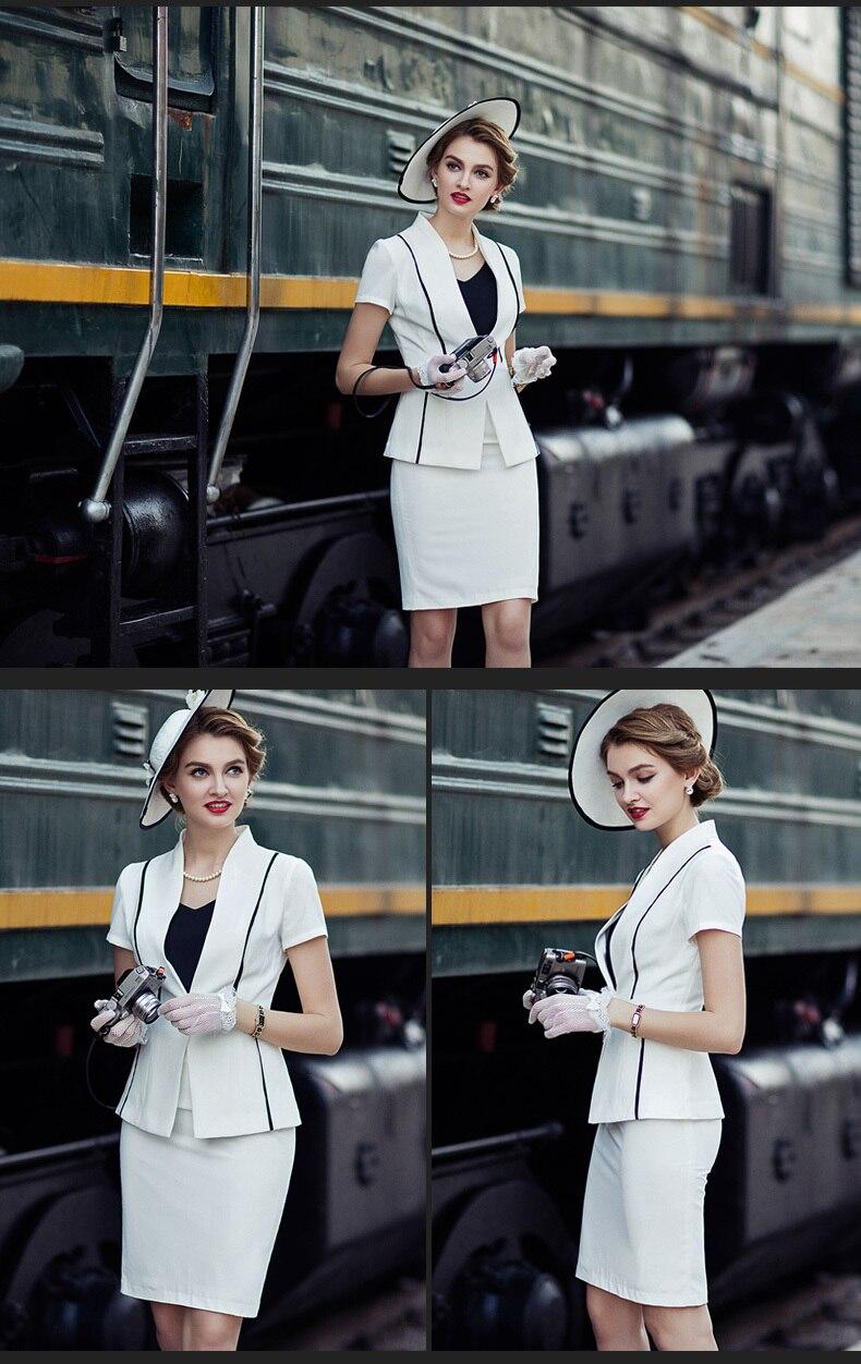 Женский офисный костюм с коротким рукавом, элегантный топ и юбка карандаш, комплект из 2 предметов, деловая официальная одежда для работы, ле