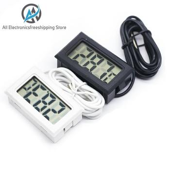 Mini Digital LCD Probe Fridge Freezer Thermometer Sensor Thermograph For Aquarium Refrigerator Kit - discount item  15% OFF Electrical Equipment & Supplies