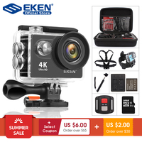 Камера для спортивной съемки EKEN H9R/H9, видеокамера для шлема Ultra HD, 4К, 30 кадр/сек, Wi-Fi, экран 2 дюйма, угол 170 градусов, водонепроницаемая