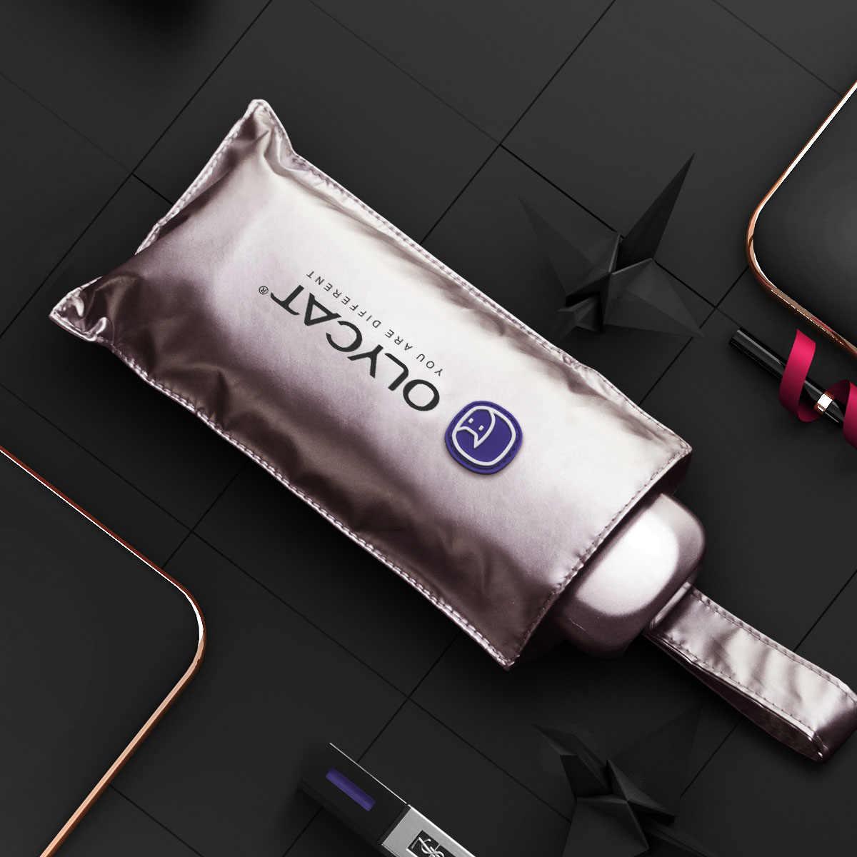 OLYCAT フラット日傘雨の女性チタンシルバー抗 UV ミニ傘子供ポータブル 5 傘防風 UPF50+