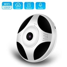 ANBIUX WiFi 1080P Fisheye VR grado telecamera IP panoramica 2MP P2P Wireless Wifi telecamera IP telecamera di sorveglianza di sicurezza domestica iCsee