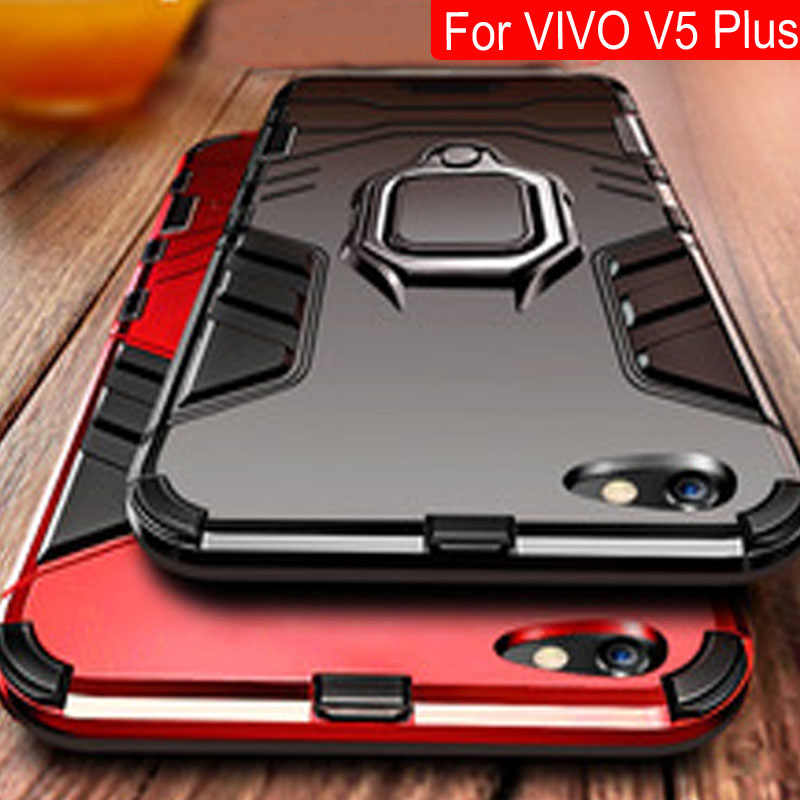 Magnet Metal Ring Case For VIVO V5 Plus Magnetic Shockproof Soft Phone Cases For VIVO V5 Plus Phone Shell Back Cover v5plus