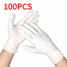 100pcs Black Blue Disposable Latex Gloves For Home Cleaning Nitrile/Food/Rubber/Garden Gloves Universal For Left and Right Hand