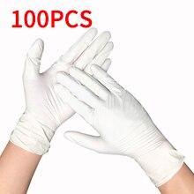 100pcs שחור כחול חד פעמי לטקס כפפות לבית ניקוי Nitrile/מזון/גומי/גן כפפות אוניברסלי עבור שמאל וימין יד