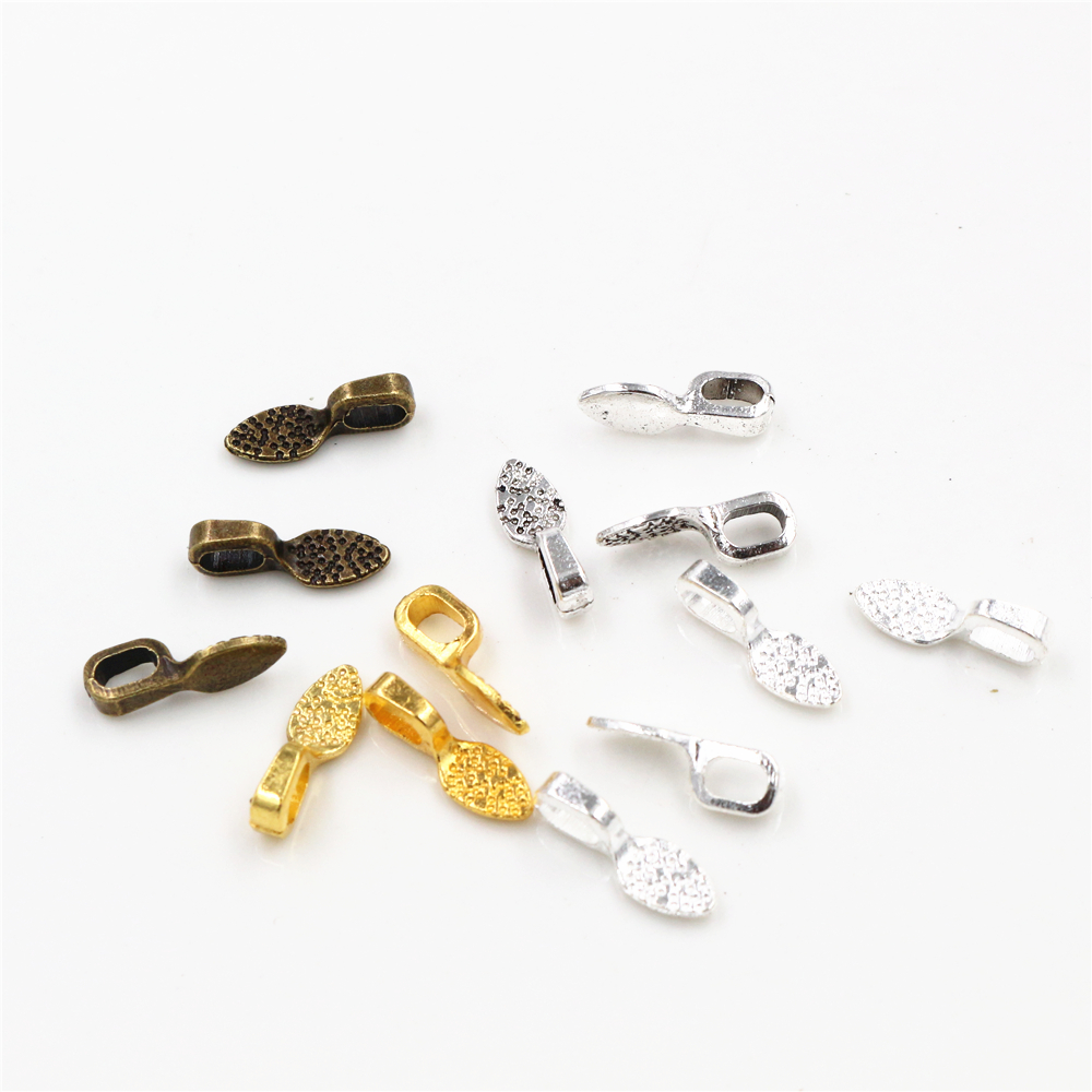15x5mm 21x7mm 40pcs Antique/Bronze/Bright Silver Colors Plated Bail Connectors Handmade Charms Pendant:DIY For Bracelet Necklace