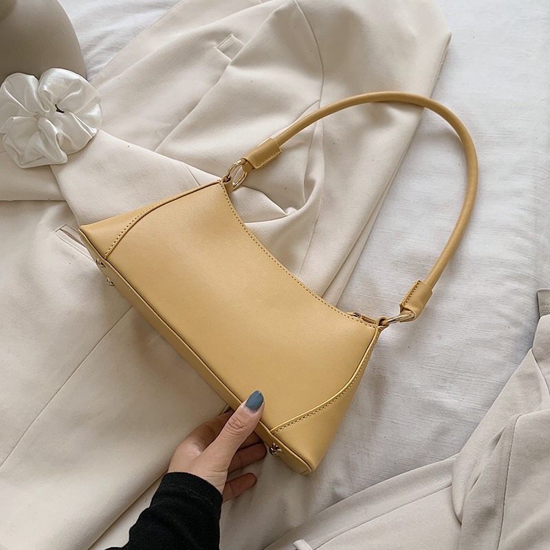 Small PU Leather Shoulder Bags For Women 2020 Summer Solid Color Handbag Female Luxury Design Travel Hand Bags