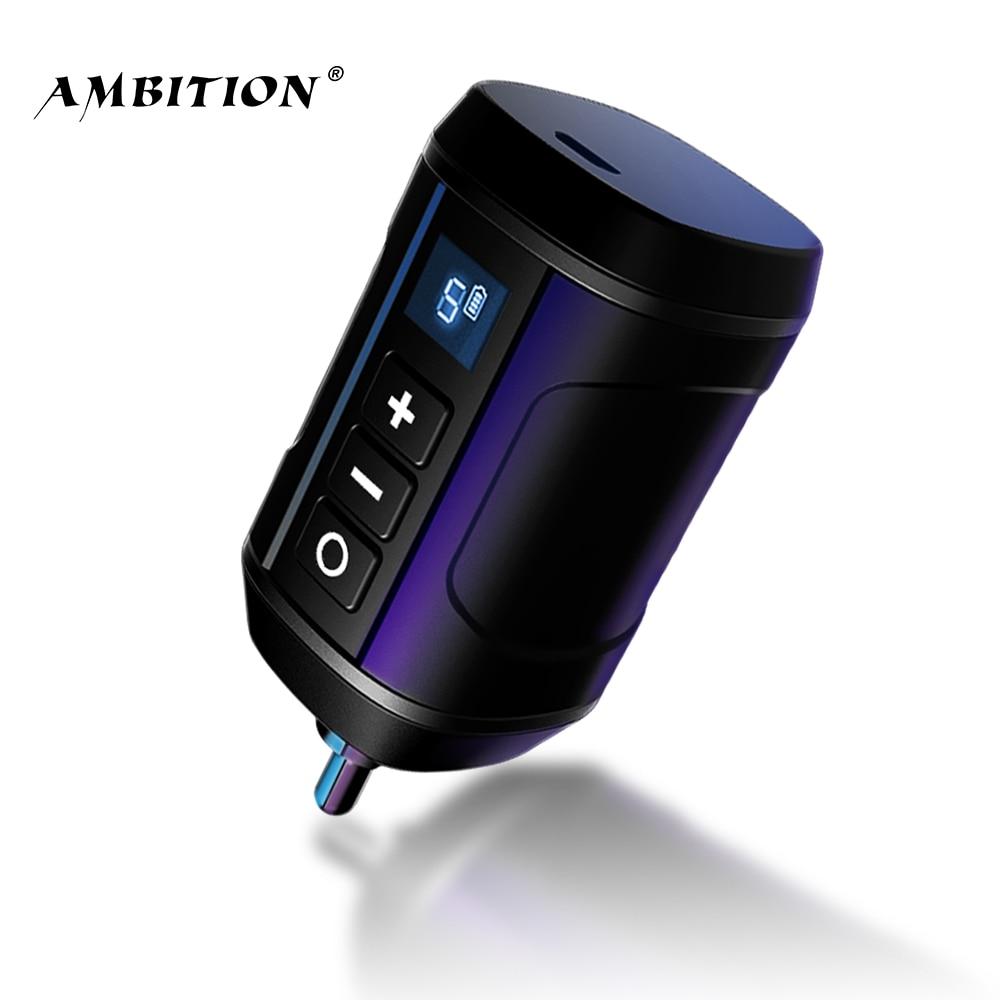 Амбиции Беспроводной татуировки Батарея Питание RCA аудио DC Интерфейс для микроблейдинг, Ротационная Машина Ключ адаптер Быстрый зарядный