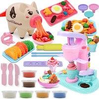 Машина для мороженого кухонная игрушка лапша машина свинья прессформы масса для лепки нетоксичный ручной работы DIY цветной