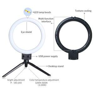 Image 3 - LED lumière annulaire Photo Studio caméra lumière photographie lumière vidéo à intensité variable pour Youtube maquillage Selfie avec trépied support pour téléphone