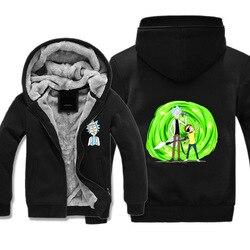 Rick Und Morty Hoodie Anime Peripheren Herbst Und Winter Kleidung Mantel männer Sweatshirts & Hoodies Männer Und Frauen- paar Kleidung Ome