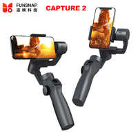 Funsnap Capture 2 3-Axis Smartphone Handheld Gimbal Stabilizer for iPhone XS X 8 Xiaomi Samsung S9 S8 Action Camera PK Smooth 4