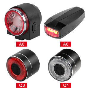 Image 3 - LED USB Rechargeable Rear Bike Light Auto Brake Detected Bicycle Tail Lamp Wireless Remote Control Cycling Taillight Alarm Bell
