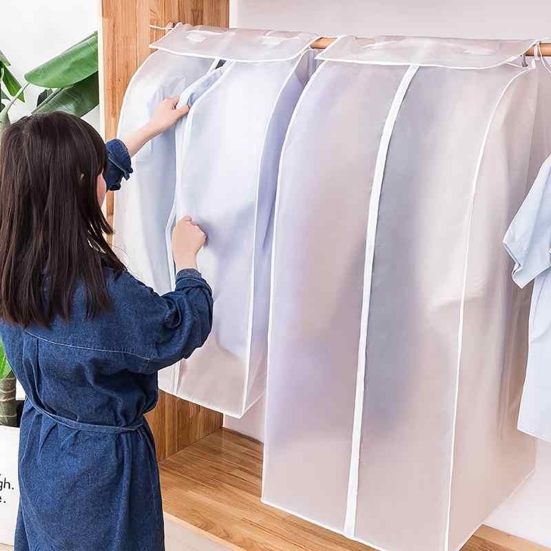 Zhoumei Aseado Cubierta De Polvo Completamente Cerrados Ropa Transparente Cubren La Ropa Bolsa De Polvo De Almacenamiento Colgante Color A Size 80 50 54cm Hogar Y Cocina Fundas De Ropa