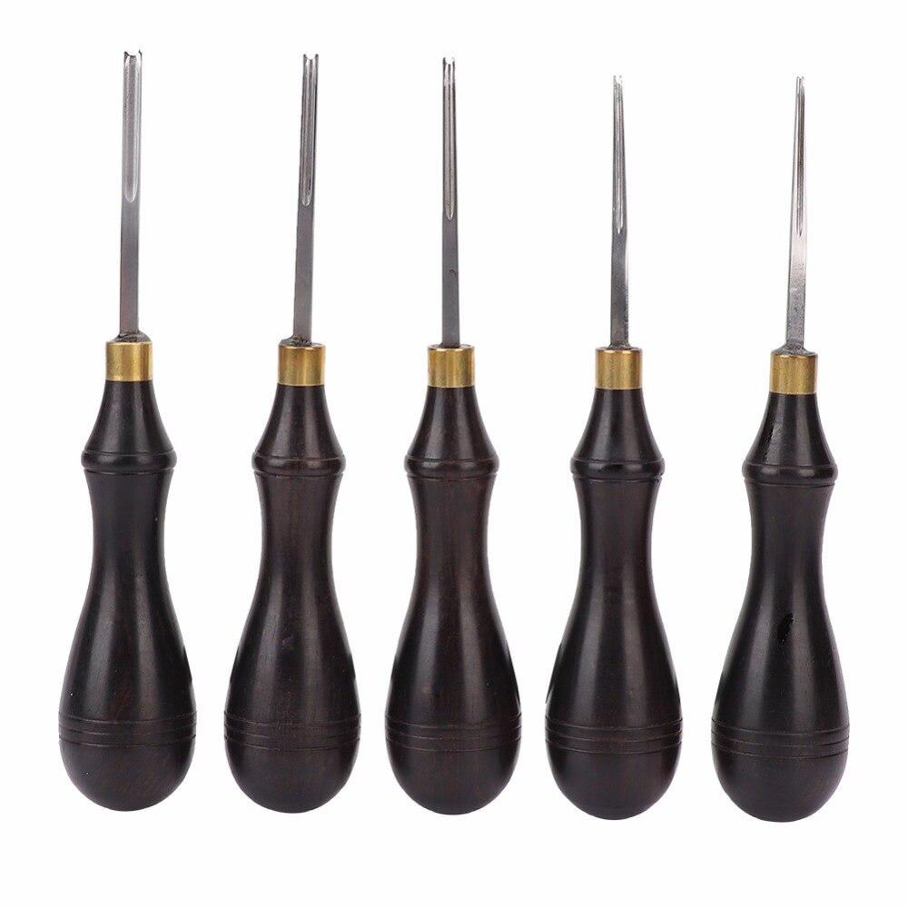 Лезвие для кожаных кромок с эбеновыми ручками для самостоятельного изготовления кожаных кромок, инструмент для обрезки скошенной кожи
