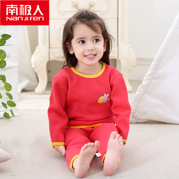 NANJIREN 0-2year Baby Girl Clothes Gold Fleece Long Johns Set Child Winter Cotton Warm Pajamas Thicken Newborn Thermal Underwear