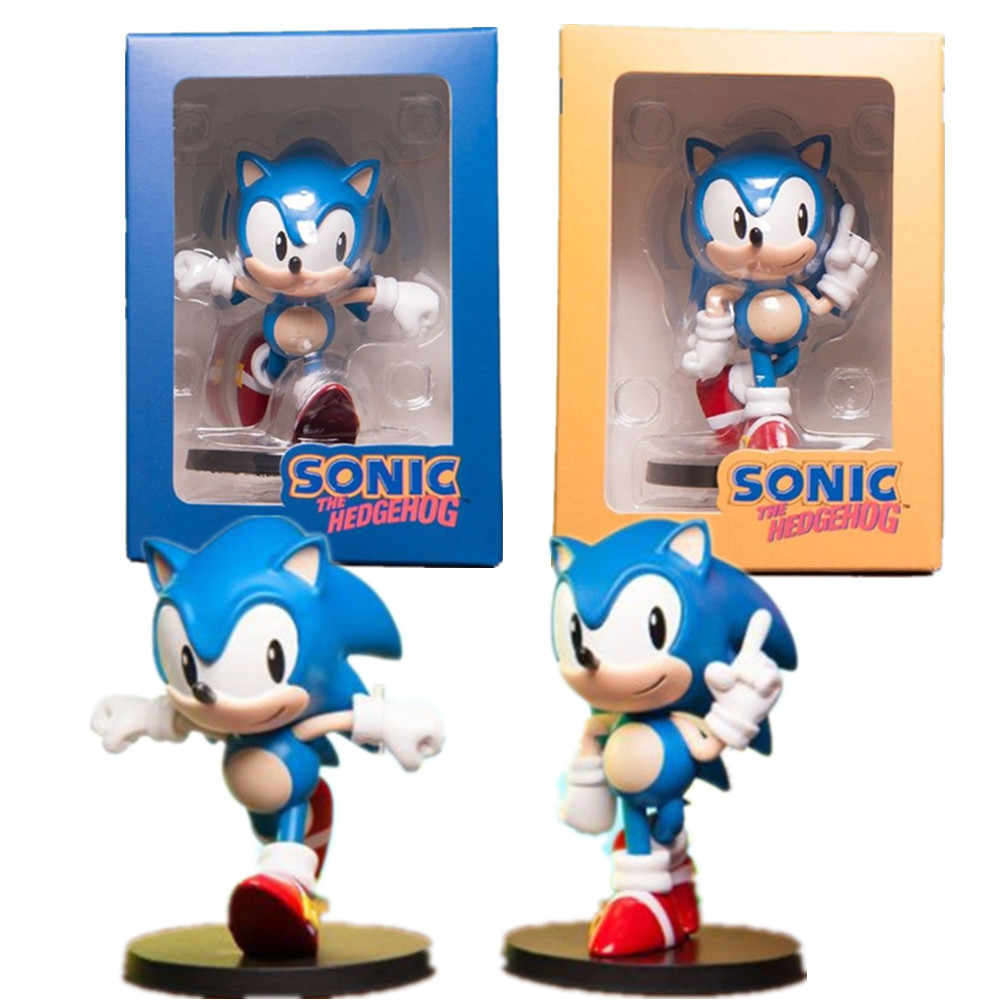 Sonic The Hedgehog Pvc Action Figure 75Mm Model Speelgoed Anime Film Sonic The Hedgehog Q.Ver Beeldje Game Speelgoed