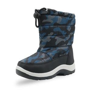 Image 2 - Kinder Anti slip Camouflage Bergsteigen Schuhe für Baby Jungen Kleinkind Kinder Mid Kalb Warm Plüsch Winter Schnee stiefel