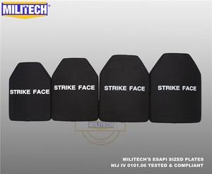 Image 5 - ESAPI Bulletproof Plate Ballistic Panel NIJ level 4 IV Alumina & PE Stand Alone Two PCS From Size S to XL Body Armor  Militech