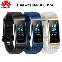 Оригинальный смарт браслет Huawei Band 3 Pro, металлический смарт браслет с GPS, полноцветным сенсорным AMOLED дисплеем 0,95 дюйма, браслет для плавания с пульсометром и датчиком сна