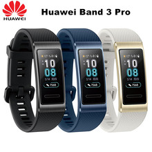 Huawei Original de la banda 3 Pro GPS banda inteligente Metal Amoled 0,95 completa pantalla táctil a Color nadar golpe Sensor de frecuencia cardíaca dormir pulsera