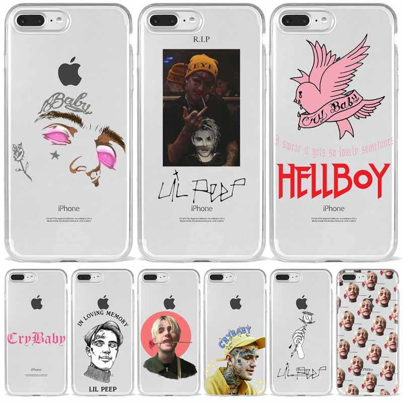 Lil Peep Lil Bo Peep CryBaby 소프트 실리콘 TPU 폰 커버 for iPhone 8 7 6 6S Plus X XS MAX 5 5S SE XR 10 11 11pro 11promax
