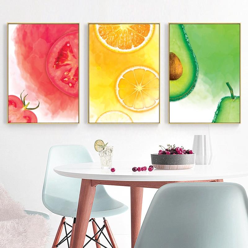 Poster Home Decor Citrus Fruit Art//Canvas Print Wall Art