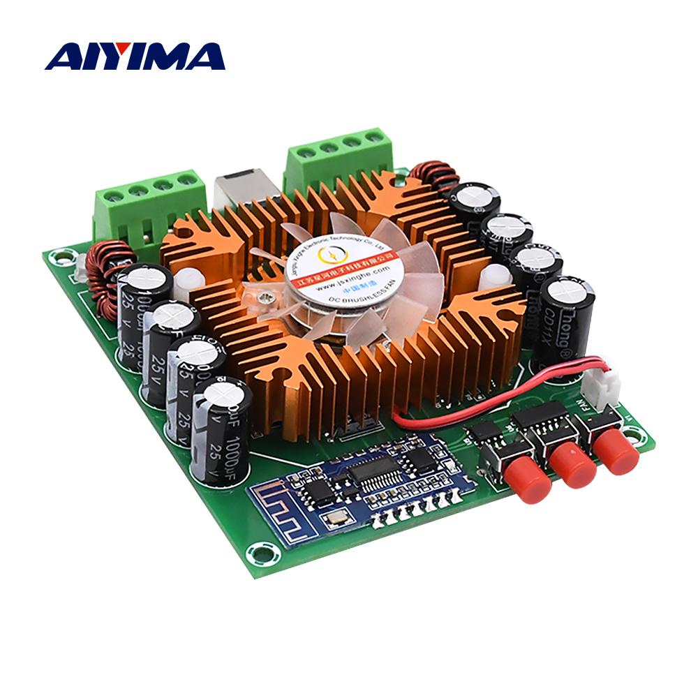 AIYIMA TDA7850 Bluetooth 5.0 Power Amplifier Board Car Amplificador 4x50W Class AB Analog Circuit BTL Amplifier DIY Home Theater