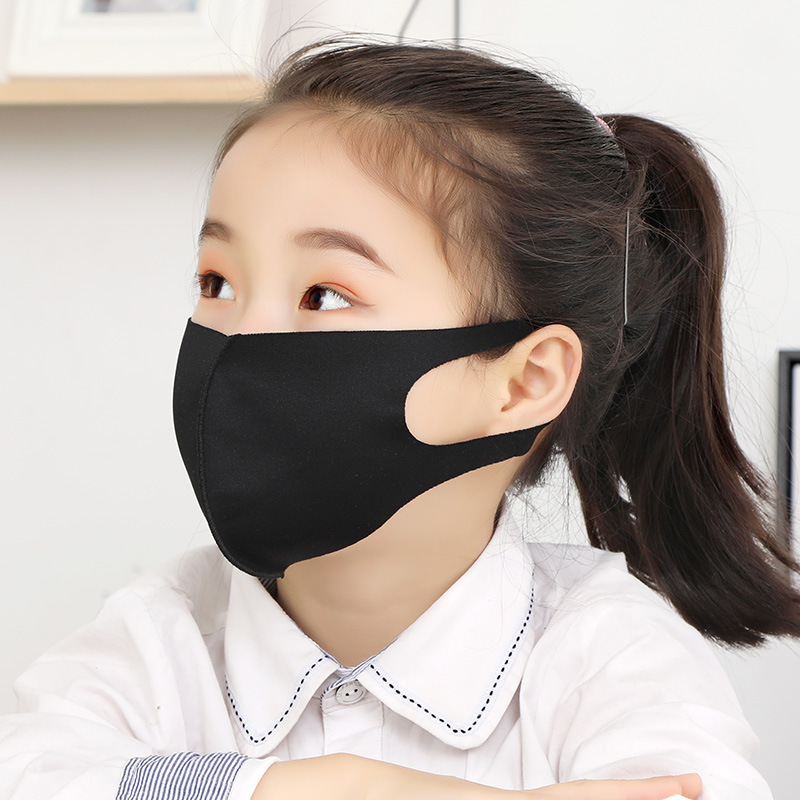 1Pcs Mulit-color Thin Three-dimensional Dust-proof Mask Ice Silk Cotton Sunshade Windproof Mask For Children Safety Protective