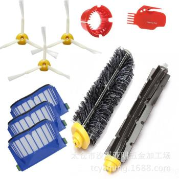 3 Armed Side Brush Replacement For iRobot Roomba 500 600 550 595 610 620 630 650 670 Series Robot Vacuum Cleaner Accessories 3x robot filter 3x side brush 1beater brush kit replacement for irobot roomba 600 series 595 620 630 650 660 12 pcs lot