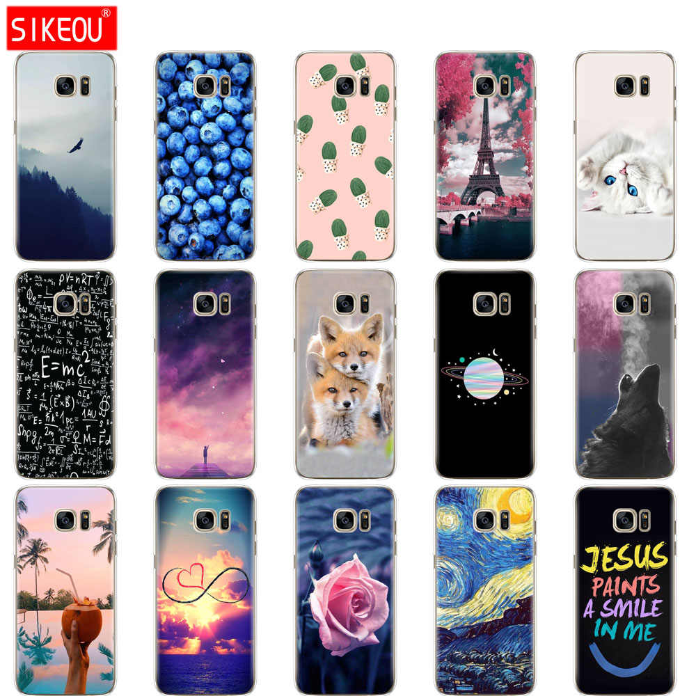 Silicone case For Samsung Galaxy S6 Edge Case soft TPU Coque For Samsung S6 edge G925F G925I Coque Funda Skin shockproof
