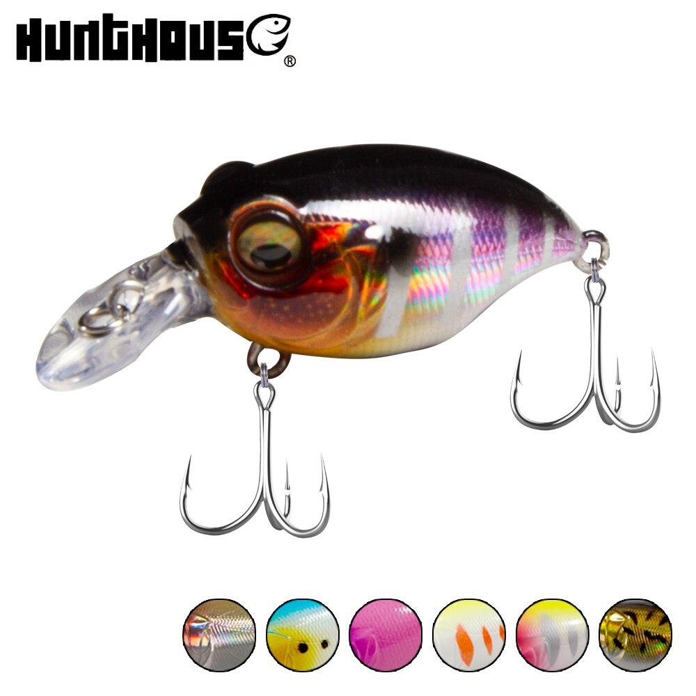 Hunthouse Wiggle Griffon Crankbait Bass Pike Freshwater Crank Pinball Action Floating 50mm 11g Crankbaits Hard Fishing Lure LW90