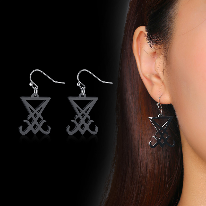 SEAL OF LUCIFER HOOK DROP EARRINGS