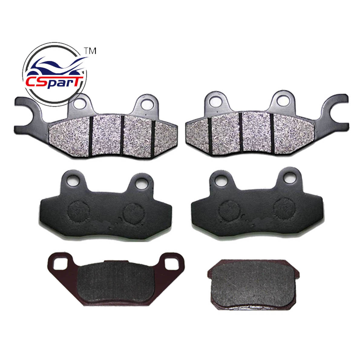 3 Pairs Semi Metallic Front Rear Brake Pad For KAZUMA STELS 500GT 500CC ATV UTV