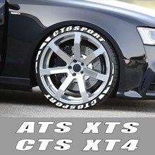 Lettere in gomma 3D adesivi per pneumatici per auto per Cadillac ATS CTS Escalade BLS CT4 CT5 CT6 EXT STS SLS SLR XLR XT4 XT5 accessori auto