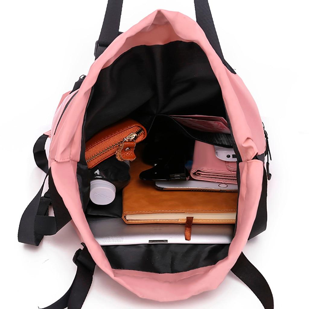 Leopard Pattern Beam Mouth Drawstring Backpack Waterproof Shoulder Strap Leisure Backpack Portable Gym Bag